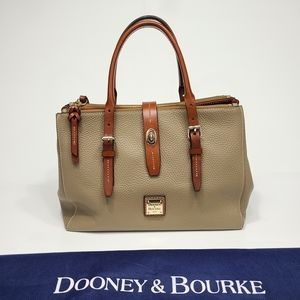 Dooney & Bourke Perry Satchel Pebbled Leather Bag